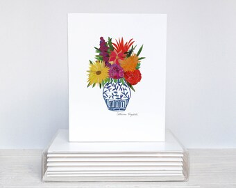 Set of 6 - Floral Greeting Cards