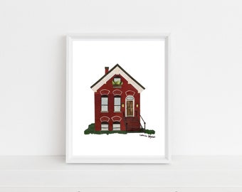 """""""Chicago Workers Cottage"""" Print, 8x10"""""""