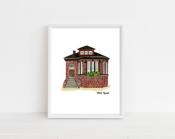 """Chicago Bungalow"" Print, 8x10"""