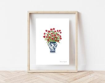 """Tulips"" Print, 8x10"""