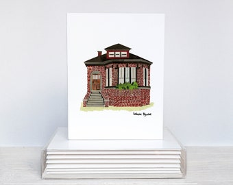 Set of 6 - Chicago Homes Greeting Cards