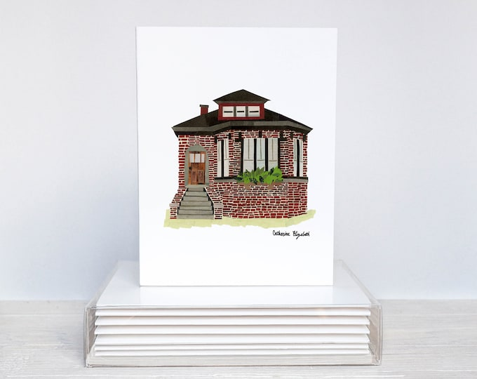 Featured listing image: Set of 6 - Chicago Homes Greeting Cards