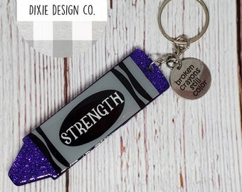 Motivating Gift Broken Crayon Quote Encouraging Gift Sympathy Keychain Gift Broken Crayons Still Color Keychain Keychain Gift