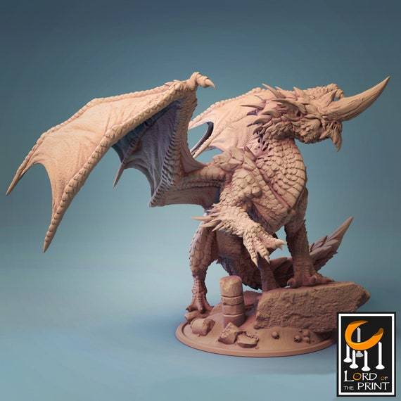 Dungeons and dragons D/&D tabletop miniatures Get FREE Wooden RPG engraved BOX Flimtrax blue dragon  miniature DnD miniatures