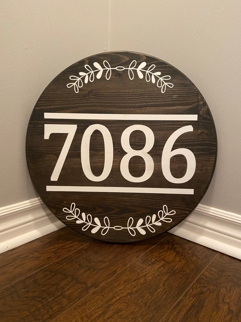 Hanging Garage Decor Porch Decor Curb Appeal Personalized Address Welcome Sign 18in Address Sign