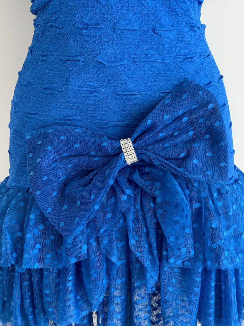 1990/'s Vintage Retro Rare Puffed Balloon Short Sleeve Party Prom Dress