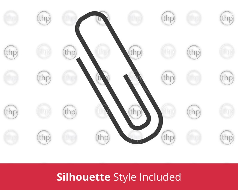Paperclip Cut Files /& EPS PNG Paperclip SVG Paper Clip Vector Paper Clip Svg Paperclip Clipart Stationary Svg Office Supplies Svg