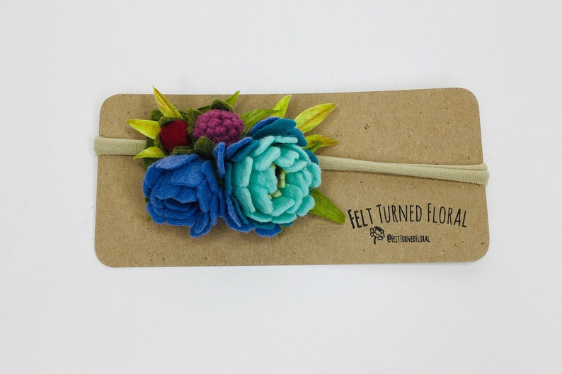 Baby Headband Felt Flowers Baby Gifts Baby Gift Boho Baby Photo Prop Headband Flower Headband Baby Accessories Baby Shower Gift