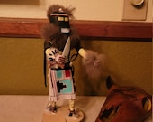 Native American Kachina Doll Hair quot signed 12 quot Indian Hopi Doll