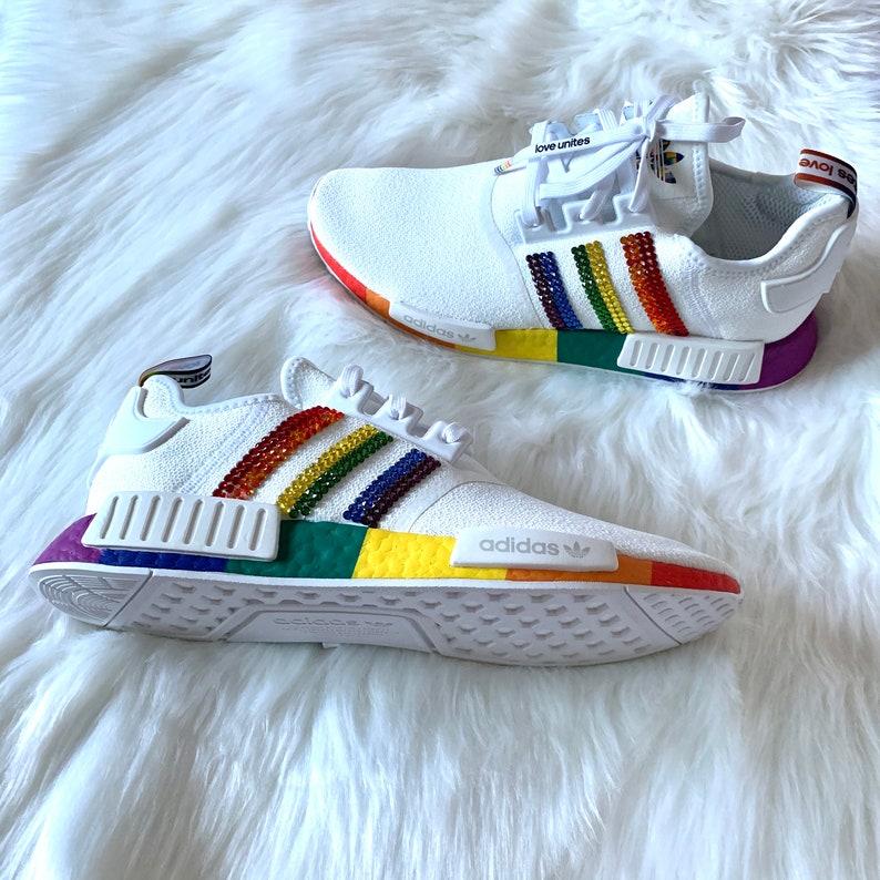 Swarovski® Adidas Adidas NMD Custom Shoes Pride Rainbow uXFUGzo4