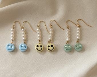 Smile Smirk or Confused Pearl Earrings | One Pair