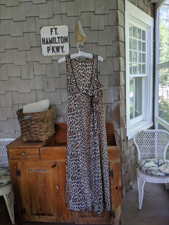 Vintage Vanity Fair Leopard Print Nightgown. Are y