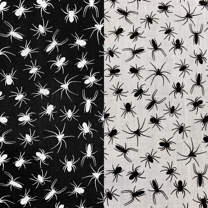 Costume Horror Halloween SPIDER Fabric Fancy Dress 100/% Polycotton Sewing Quilting