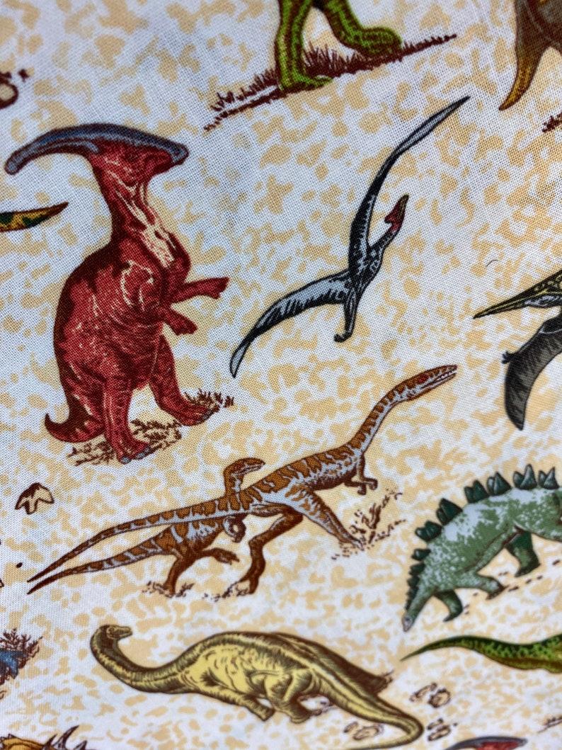 Lost World Material Cotton Fabric Kids Dinosaur JURASSIC Fabric T Rex Quilting