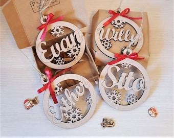 Christmas name and snowflakes, Christmas ornament, Custom Christmas ornament, Christmas decoration, Name gift