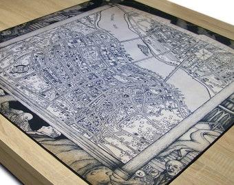 BIG Arkham Horror, Neopren Playmat 90x90 cm, Premium Stitched Edges (black)