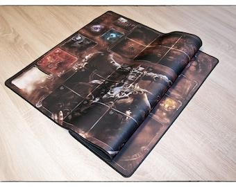 Etherfields Playmat 840x560mm - Horizontal board, Neoprene Playmat Premium Stitched Edges (black)