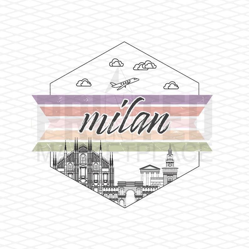Travel Children/'s Apparel Baby Bodysuit Milan Italy Onesie\u00ae