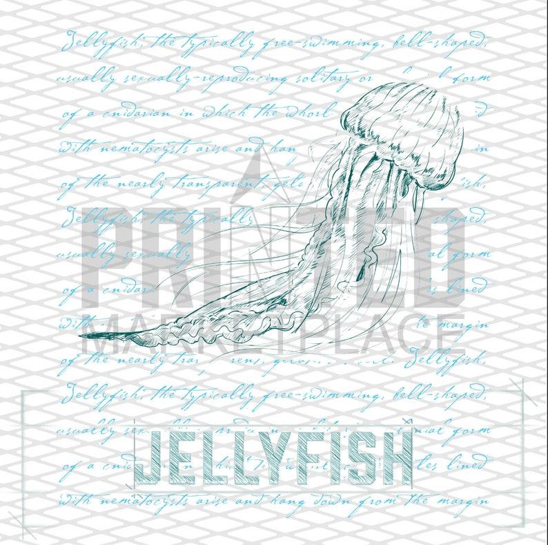 Sketched Jellyfish Onesie\u00ae Toddler Apparel Blue Sea Creature Bodysuits