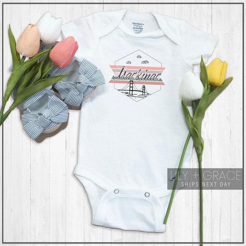 Travel Toddler Apparel Baby Boutique Mackinac Bridge Onesie\u00ae