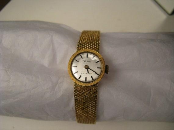 Tissot Watch Gold Luxury Antique Mechanical Women'