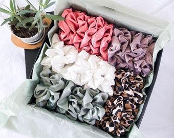 handmade scrunchies Cheetah Print Scrunchie handmade gift scrunchie pack for girls hair accessories