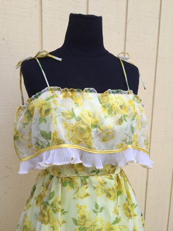 Sunflower Vintage Oldstock 1960's Prom Gown Dress
