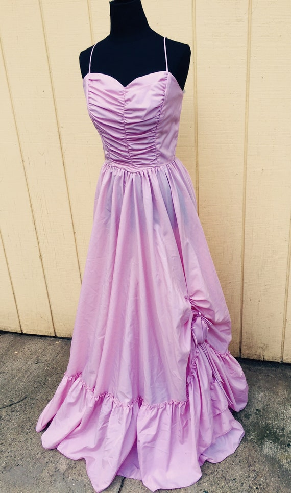1970's New Oldstock Vintage Formal Prom Gown Dress