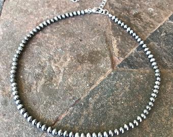 4mm Navajo pearl choker