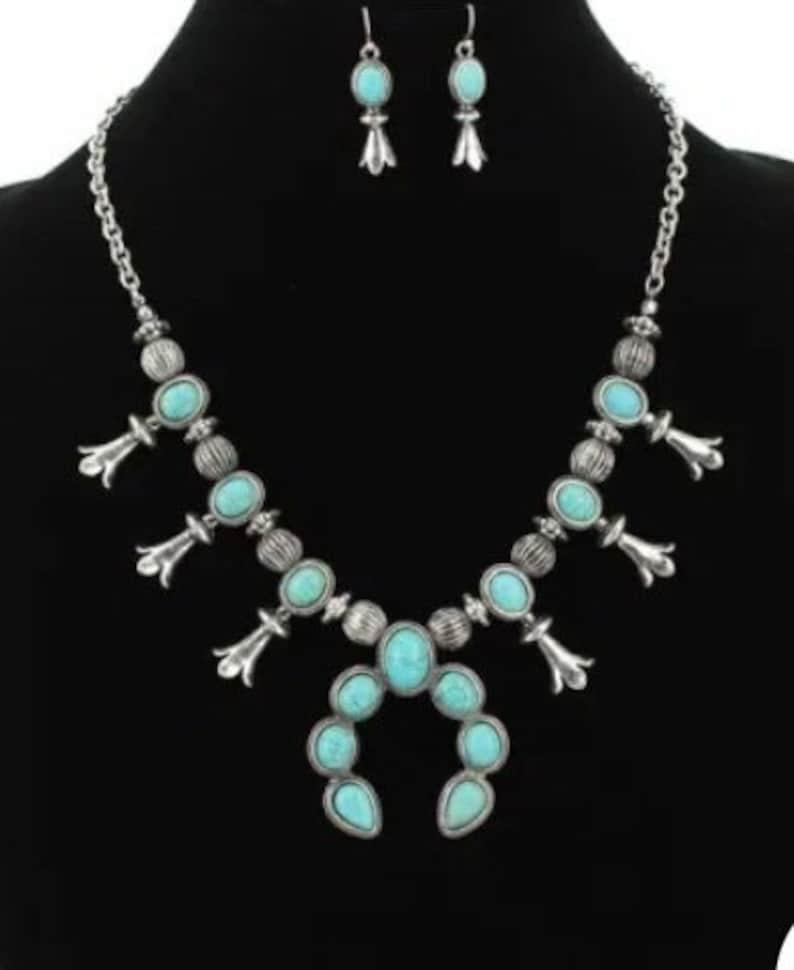 Squash blossom necklace set