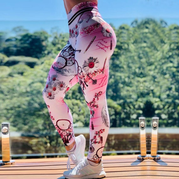 Printed Yoga Pants Leggings Sport GYM Running or Stylish home Wear - Athletic Pants with Cool Design - Fast Dry Butt Lift Pants