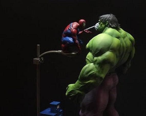 Spiderman vs hulk 3d print stl files marvel dc