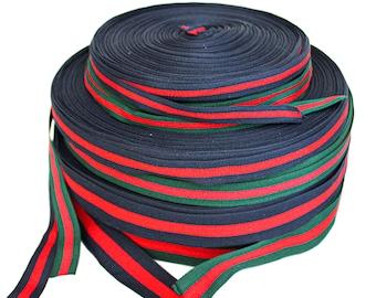 Fashion ribbon Sold by yard. 1.6ins Red And Blue Ribbon Ribbon webbing