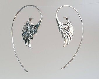 Wing Earrings made of 925 Silver Sterling