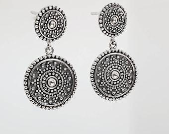 Boho Earrings, 925 Silver Sterling