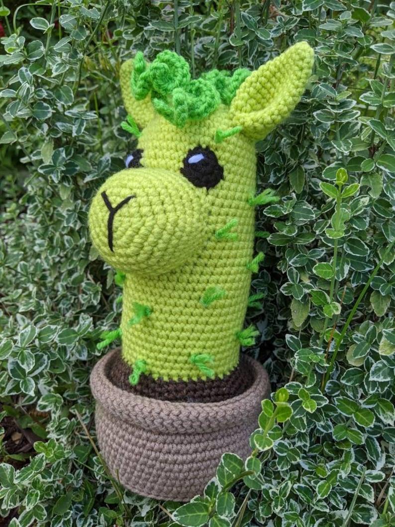 Alpaca llama cactus made to order home decor  amigurumi toy  crochet