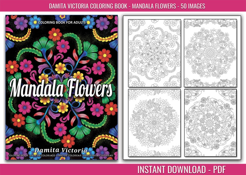 Relaxing Coloring Book for Adults With 50 Illustrations image 0
