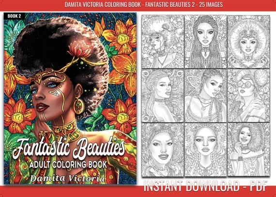 Coloring Book For Adult By Damita Victoria Fantastic Etsy