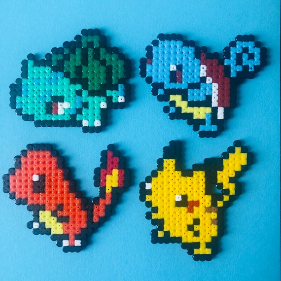 Kanto Starter Pokemon Pixel Art Magnets Etsy Here you will find the best pixel art pokemon images. kanto starter pokemon pixel art magnets