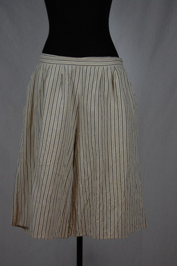 Women's Japanese Vintage Culotte Striped