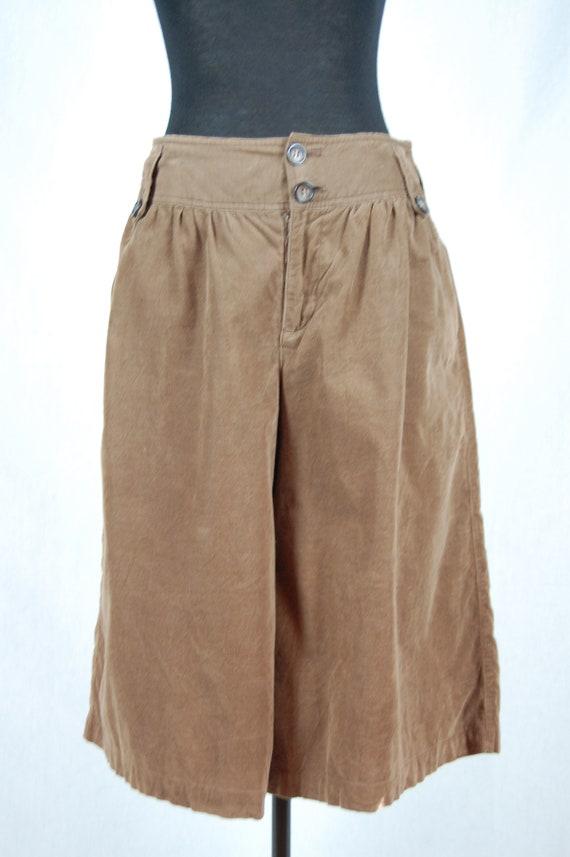 Women's Japanese Vintage Culotte dark brown