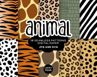 Zoo digital paper,Safari invitation,Animal Printable,Tiger papers ANIMAL PRINT PAPER Safari patterns,Paper for kids Safari Digital Paper