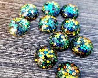 Glitter druzy mix Fits 12mm setting Druzy cabochon mix DIY Galaxy cabochon 12mm cabochon wholesale