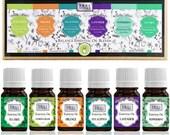 Essential Oils 6 Pack Pure Therapeutic-Grade Essential Oil Gift Set 10 mL Eucalyptus, Lavender, Orange, Lemongrass, Peppermint, Tea Tree