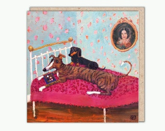 Caught In The Act greeting card by Vanessa Cooper