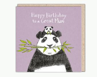Great Mum greeting card by Una Joy