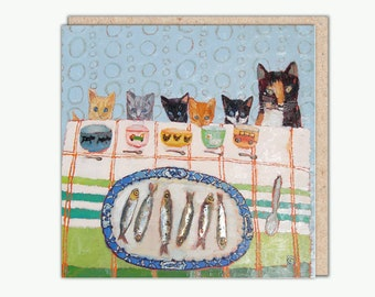 You Shall All Have Fishies greeting card by Vanessa Cooper