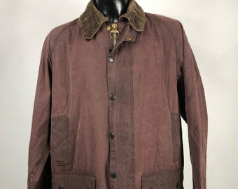 Barbour Jacket Beaufort brown C46/117 cm - Brown waxed Jacket Beaufort 46''