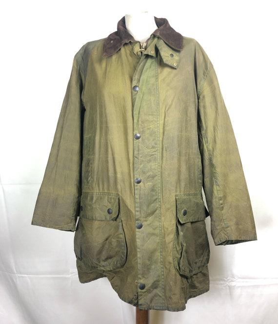 Jacket Barbour Men's Border Green Vintage Waxed C4