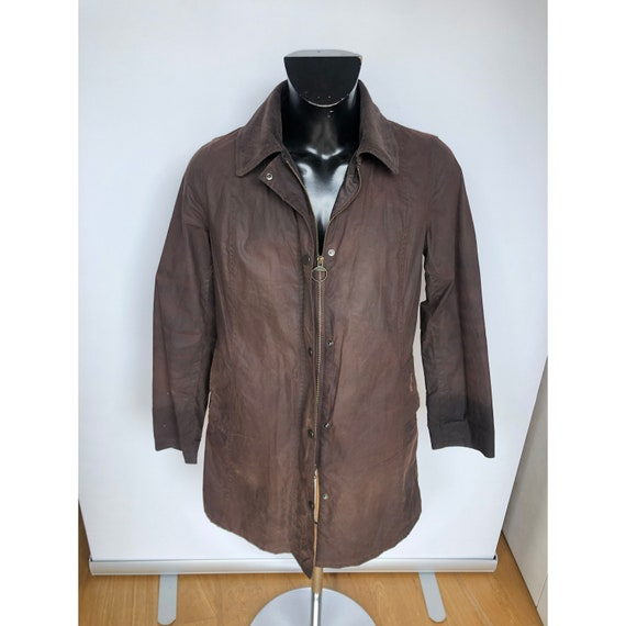 Barbour Jacket Hamshire Coat UK 14 Brown Cerata Pe